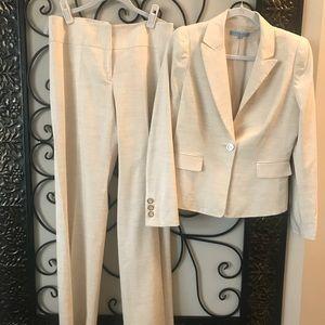 Antonio Melani Classic Pants Suit Sz 6 Linen Blend